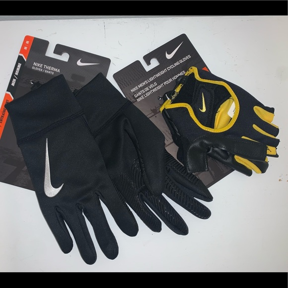 tinción atlántico acidez  Nike Accessories   Lot Of 2 Mens Nike Therma Cycling Gloves   Poshmark